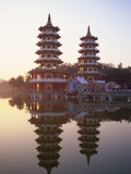 Taiwan, Kaohsiung, Lotus Lake, Dragon and Tiger Pagodas Photographic Print by Steve Vidler