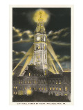 Night, City Hall, Philadelphia, Pennsylvania Prints