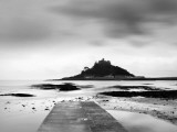 St Michael'S Mount at Sunrise, Cornwall, UK Photographic Print by Nadia Isakova