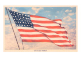 God Bless America, Flag Print