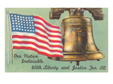 Flag and Liberty Bell Art