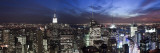USA, New York City, Empire State Building and Lower Manhattan Skyline Panoramic Photographic Print by Michele Falzone