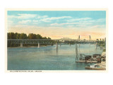 Willamette River, Salem, Oregon Prints