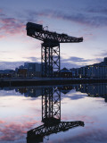 Scotland, Glasgow, Clydebank, the Finneston Crane and Modern Clydebank Skyline Photographic Print by Steve Vidler