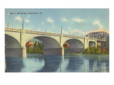 Hill to Hill Bridge, Bethlehem, Philadelphia, Pennsylvania Posters