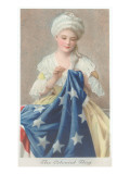 Betsy Ross Sewing Flag Kunstdrucke