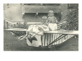 Children in Mock Airplane Poster