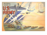 Postcard Folder of US Army Posters