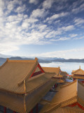 Rooftop of Wenwu Temple, Sun Moon Lake, Taiwan Photographic Print by Ian Trower