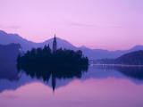 Lake Bled / Dawn, Bled, Gorenjska Region, Slovenia Photographic Print by Steve Vidler