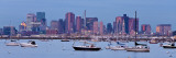 USA, Massachusetts, Boston, City Skyline and Boats Moored in the Harbour Photographic Print by Gavin Hellier