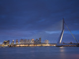 Erasmus Suspension Bridge, Rotterdam, Holland Photographic Print by Michele Falzone