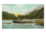 Fish Wheel, Columbia River, Oregon Poster