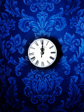 Time Brocade in Blue Fotoprint van Helena Marroqui