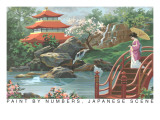 Paint by Numbers, Japanese Scene Print