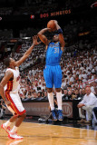 Dallas Mavericks v Miami Heat - Game One, Miami, FL - MAY 31: Jason Terry and Mario Chalmers Photographic Print by Andrew Bernstein