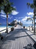 Bora Bora Nui Resort, Bora Bora, French Polynesia Papier Photo par Walter Bibikow