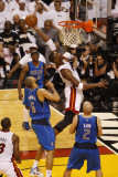 Dallas Mavericks v Miami Heat - Game One, Miami, FL - MAY 31: Chris Bosh and Tyson Chandler Photographic Print by Issac Baldizon
