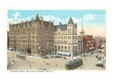 Colonial Hotel, Public Square, York, Pennsylvania Prints