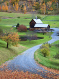 USA, New England, Vermont, Woodstock, Sleepy Hollow Farm in Autumn/Fall Photographic Print by Michele Falzone