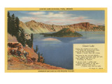 Crater Lake, Wizard Island, Oregon Poster