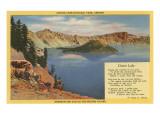Crater Lake, Wizard Island, Oregon Print