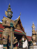 Thailand, Bangkok, Wat Phra Kaew, Grand Palace, Statues in Wat Phra Kaew Photographic Print by Steve Vidler