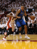 Dallas Mavericks v Miami Heat - Game One, Miami, FL - MAY 31: Shawn Marion and Dwyane Wade Photographic Print by Mike Ehrmann