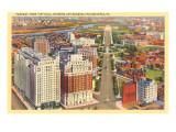 Parkway from City Hall, Philadelphia, Pennsylvania Print