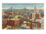 Delaware River Bridge, Philadelphia, Pennsylvania Posters