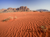 Desert Sands, Wadi Rum Desert and Jebel Qattar Mountain, Jordan Photographic Print by Michele Falzone