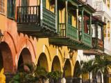 Colombia, Bolivar, Cartagena De Indias, Plaza De La Coches, Plaza De Esclavo, Portal De Les Dulces Fotografiskt tryck av Jane Sweeney