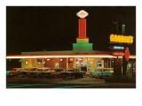 Neon-Lit Drive-In, Roadside Retro Poster