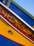 Detail of Fishing Boat, Marsaxlokk, Malta Photographic Print by Steve Vidler