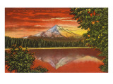 Mt. Hood at Sunrise, Lost Lake, Oregon Posters
