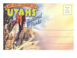 Postcard Folder, Utah's National Parks Posters
