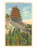 Pagoda, Mt. Penn, Reading, Pennsylvania Poster