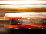 Red Bus Photographic Print by Felipe Rodriguez