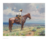 West Texas Cow Hunter Kunstdruck von Martin Grelle