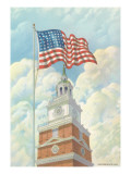 Flag over Indepence Hall, Philadelphia, Pennsylvania Posters