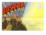 Postcard Folder, Boston, Mass. Posters