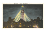Night, City Hall, Philadelphia, Pennsylvania Poster