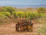 Hamer Dancers, Omo Valley, Ethiopia Fotodruck von Peter Adams