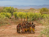 Hamer Dancers, Omo Valley, Ethiopia Photographic Print by Peter Adams