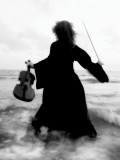 Violinists Series by Helena M. Damsel Fotoprint van Helena Marroqui