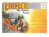 Postcard Folder, California, The Golden State Posters
