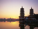Taiwan, Kaohsiung, Lotus Lake, Dragon and Tiger Pagodas Photographic Print by Steve Vidler
