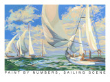 Paint by Numbers, Sailing Scene Prints