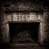 Fireplace in Medieval Castle Ruins Photographic Print by Clive Nolan