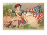 Boy with Bugle, Drum and Flag Prints